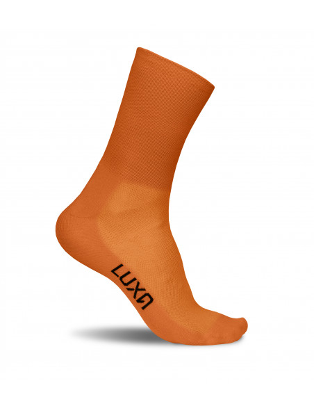 Luxa Classic Brick cycling socks. Unique color and simply one color design