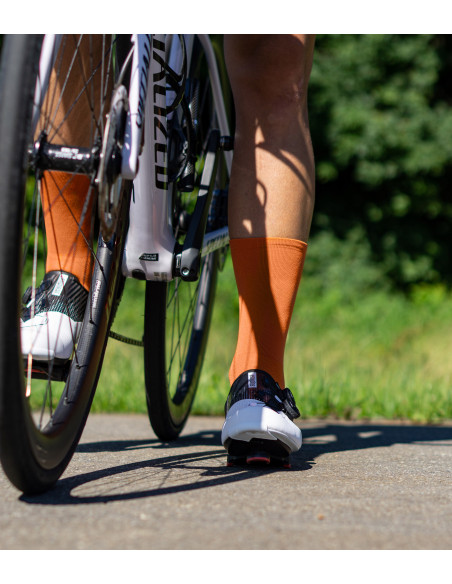 suplest road shoes + Luxa cycling socks