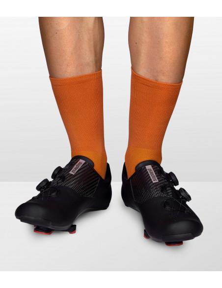 new socks model in brick red color
