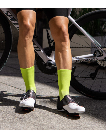 highlight your tan in bright lime Luxa Classic Canarian socks
