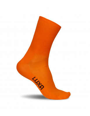 Classic Orange Luxa Road Cycling Socks
