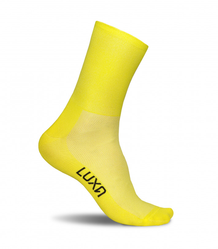 Classic Yellow Premium Cycling Socks