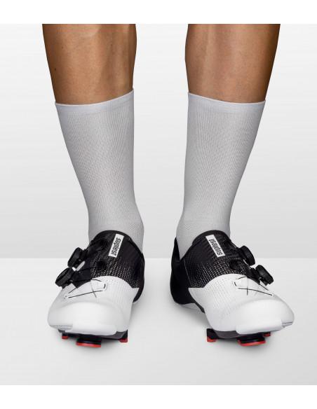 bright gray / silver road cycling socks