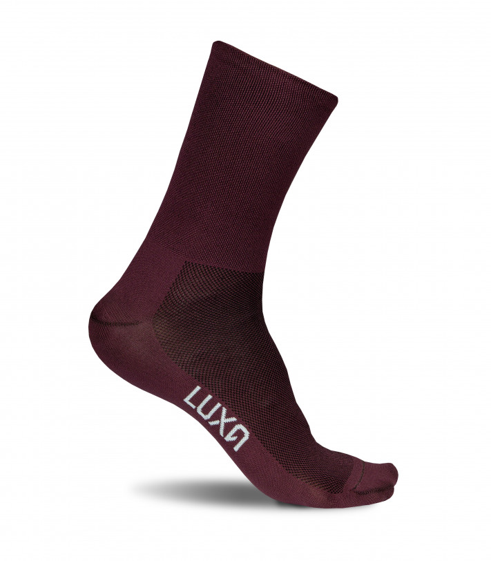 Classic Wine Cycling Socks made by Luxa all burgundy color