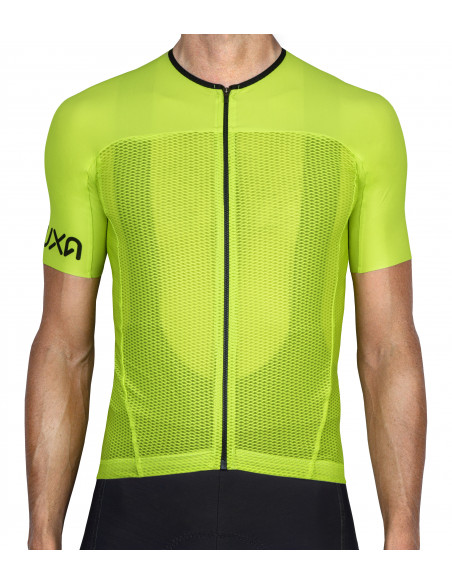 Luxa Lime Canarian Summer jersey made of lightweight mesh breathable fabric