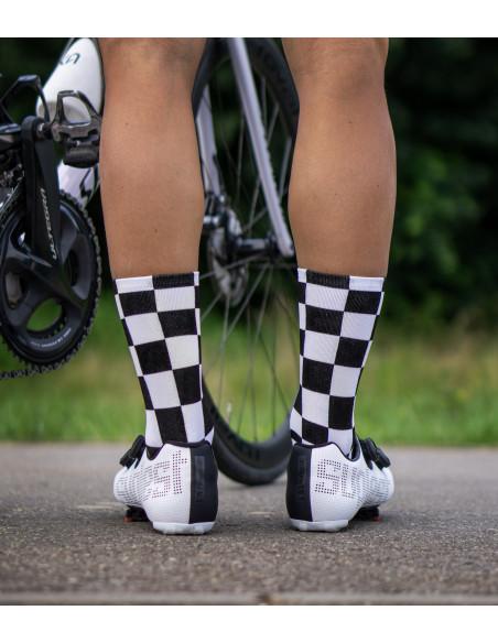 Black-white socks squares pattern for men and women.