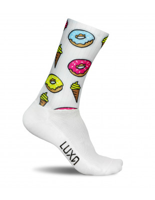 Aerodynamic Cycling Socks Aero Donuts made by Luxa