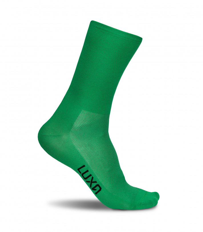 Classic Green Luxa cycling socks