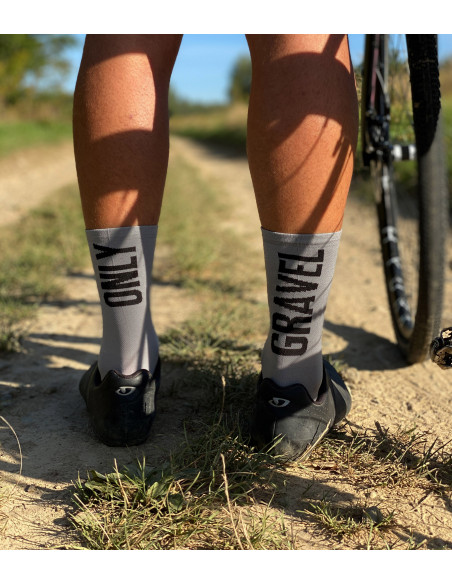gravel is the way of life. Socks for gravel cyclists made in Europe