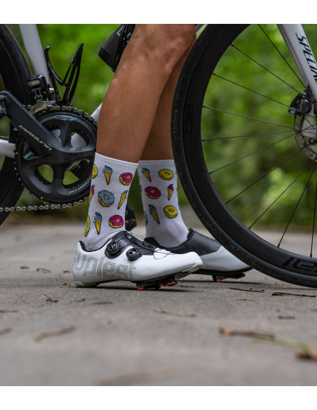 socks recommended for easy cycling coffee ride with friends
