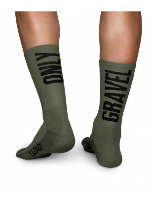 Only Gravel Luxa Khaki Cycling Socks