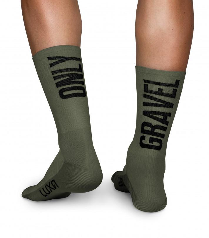 Only Gravel Luxa Khaki Cycling Socks