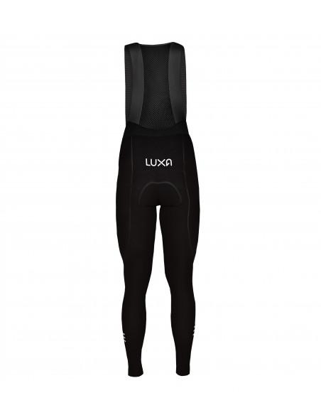 tył spodni kolarskich Luxa z odblaskowym logo