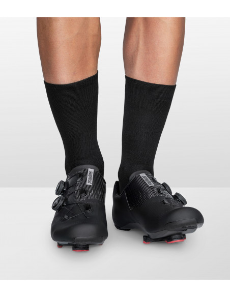 Clear style, Suplest cycling shoes with Luxa Secret all black socks.