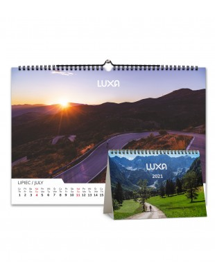 luxa 2021 cycling calendar with beautiful pictures for each 12 months