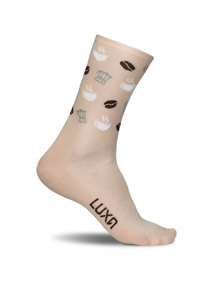 Luxa coffee lovers socks designed for cycling coffee addict