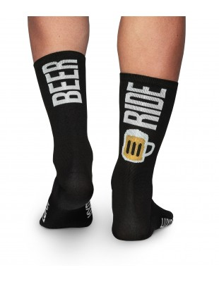 Beer ride cycling socks made in Europe