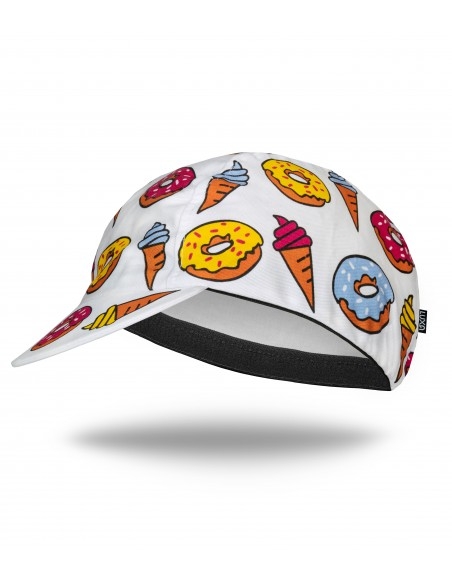 Colorful funny and bold look cap for cyclists