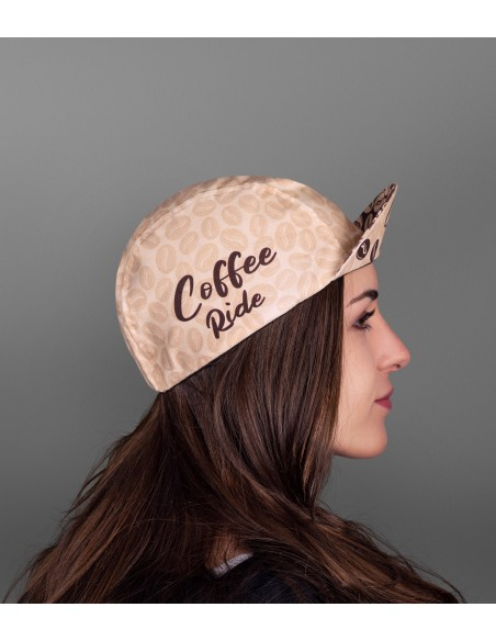 unisex cotton cap for bike lovers and caffeine addicts.