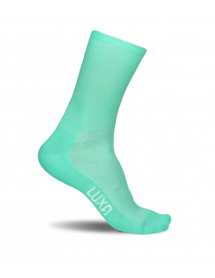 Mint Stellar cycling socks in aquamarine color