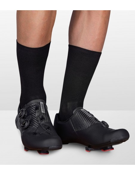 all black front of the luxa beer ride cycling socks