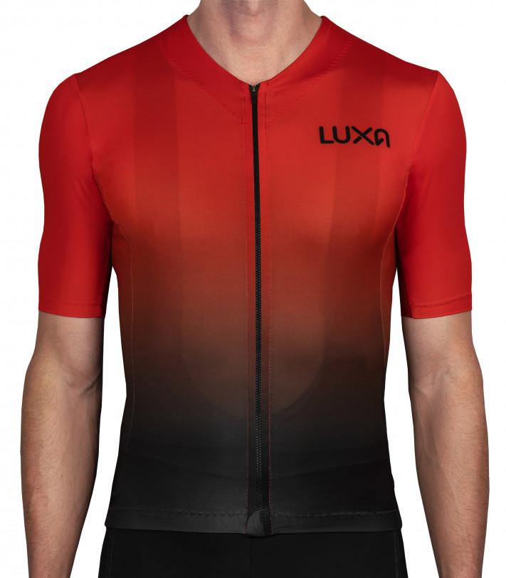 czerwona koszulka Luxa Galaxy Red z przejściem kolorów