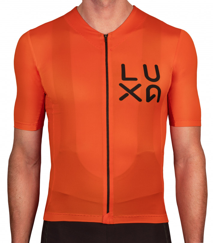 one color Luxa Rising Orange Cycling Jersey