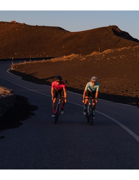 golden hour morning ride around Etna in Sicily with cycling friends