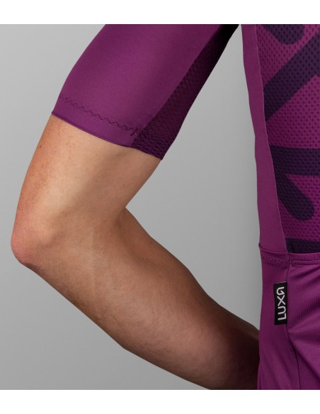 breathable mesh under arms in purple yarn color
