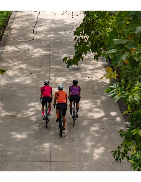 three cyclists during chill ride in Catania with new colors from 2021 mens jerseys collection