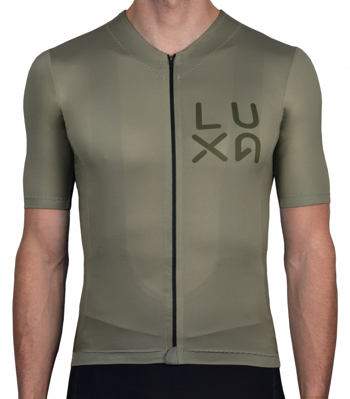 Rising Gravel Cycling Jersey in olive / khaki color