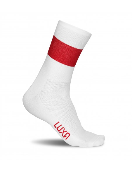 flag of poland - cycling socks with countries national colors