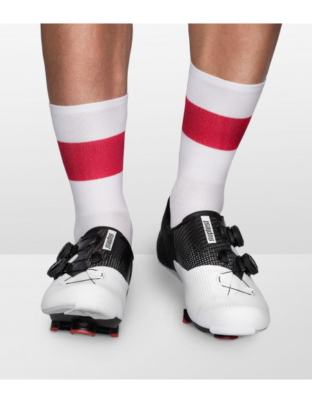 cycling socks inspired by Poland country flag in national polish colors