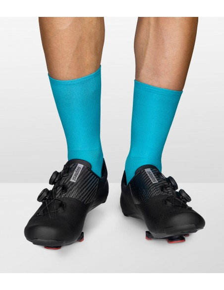 All Turquoise yarn color in the Luxa cycling socks