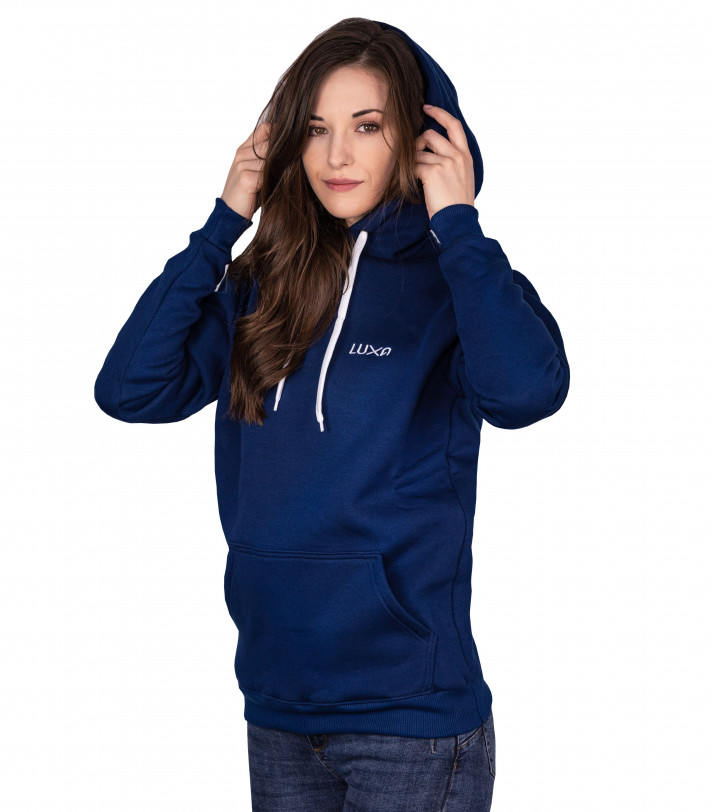 Classic Navy Hoodie made by Luxa