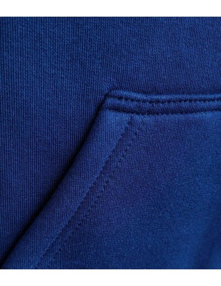deep navy cotton and strong sewing on kangaroo pocket