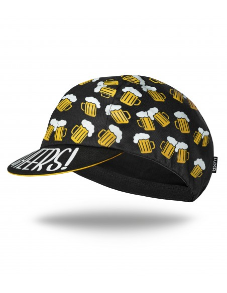 Cycling cap in beer design for gold fluid lovers