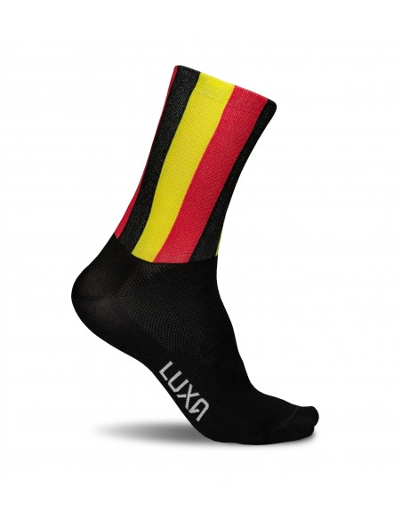 skarpetki dla rowerzystów z flagą Belgii
