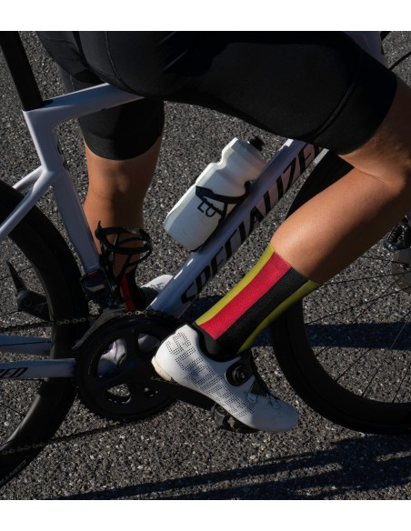 socks for Belgian classic monuments racing fans. Designed with Belgium flag stripes
