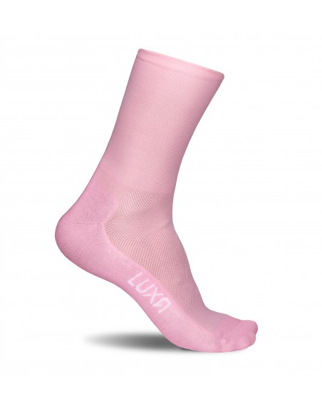 Różowe skarpetki kolarskie Luxa Classic Rose
