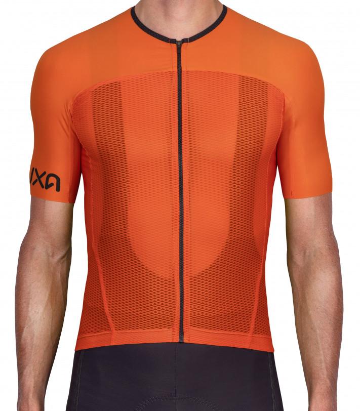 Pomarańczowa przewiewna koszulka  Kolarska Orange Summer przeznaczona na letnie upały