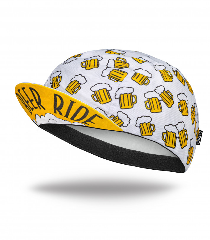 Beer Ride Cycling Cap (white) made by Luxa