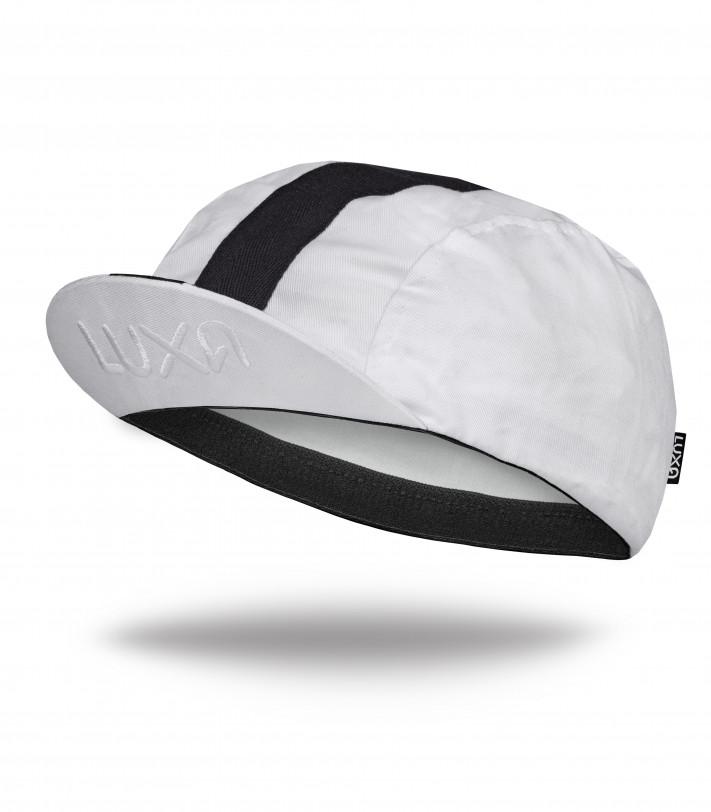 Luxa Classic Stripe White Cycling Cap