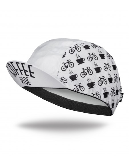 Luxa Coffee Ride White Cycling Cap