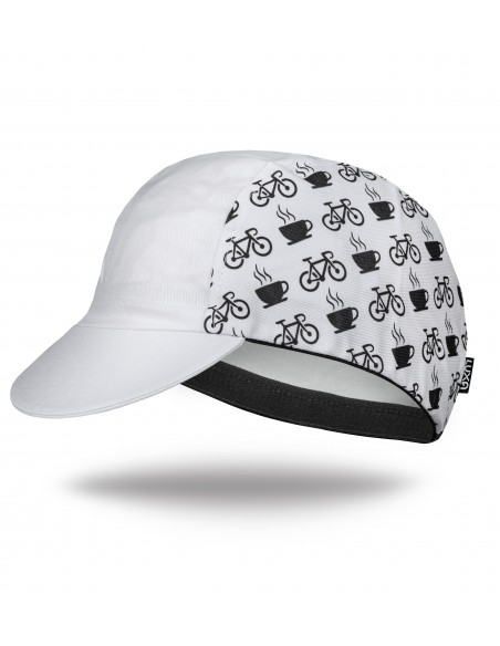 Stop for coffee with your buddies - cycling cap inspired by coffee riding