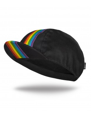 Pride Cycling Cap with rainbow stripe. Support for LGBTQ equality