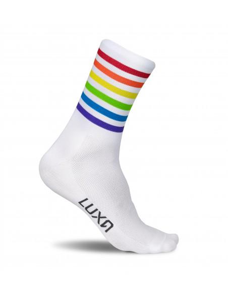 tęczowe skarpetki Luxa Stripes