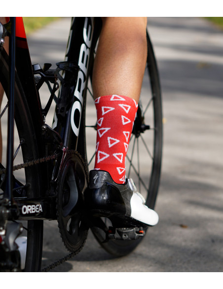 Friendly to our health - Luxa Wild Red Cycling Socks.