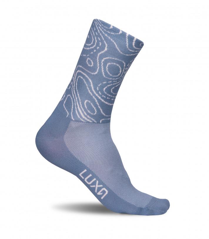 Luxa Gravel Map Cycling Socks