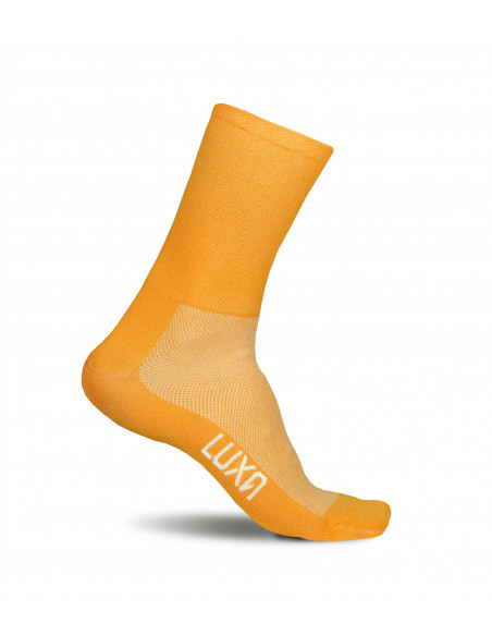 Light orange not saturated socks for cyclists